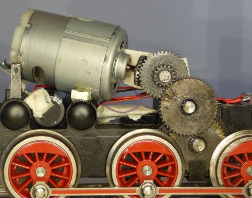 DHG 500 motor and gears